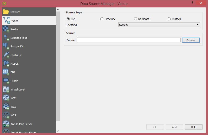 QGIS 2.99 Fomrulario de orígenes de datos