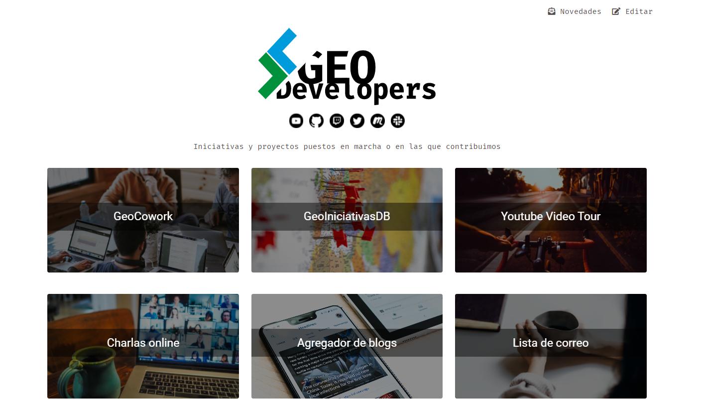 Página web de GeoDevelopers